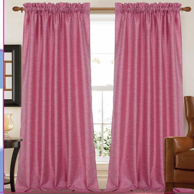 "Elise Tonal Faux Silk Curtain Panels 55"" x 84"" – 2 Pack"