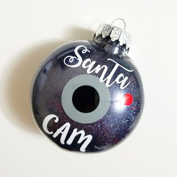 Santa Cam Ornament-Glitter Ornament-Christmas Ornament-Santa Camera-Plastic Ornament-Shatterproof Ornament-Holiday Gift-Santa Spy Camera