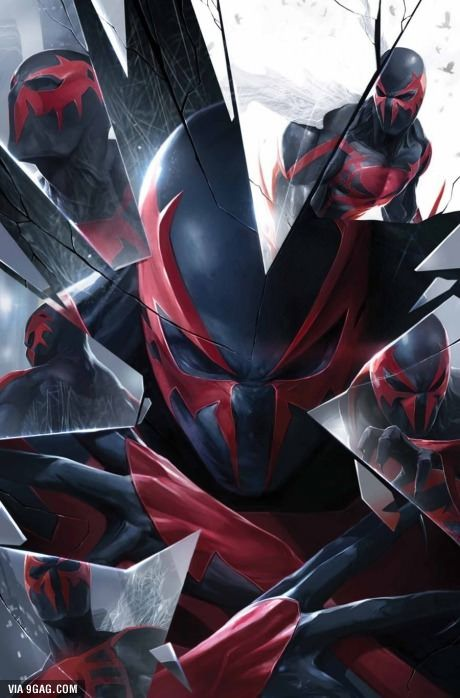 Spider-Man 2099. Parece ser del juego Spider-Man: Shattered Dimensions