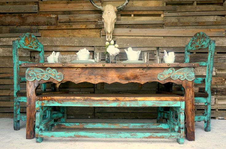 Agave Dinning Table for 6 - Sofia's Rustic Furniture