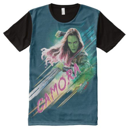 Guardians of the Galaxy Vol. 2 | Gamora In Battle All-Over-Print T-Shirt - tap, personalize, buy right now!