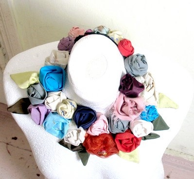 Christmas Gift Necklace a Rose Garden Upcycled by recyclingroom, $64.00