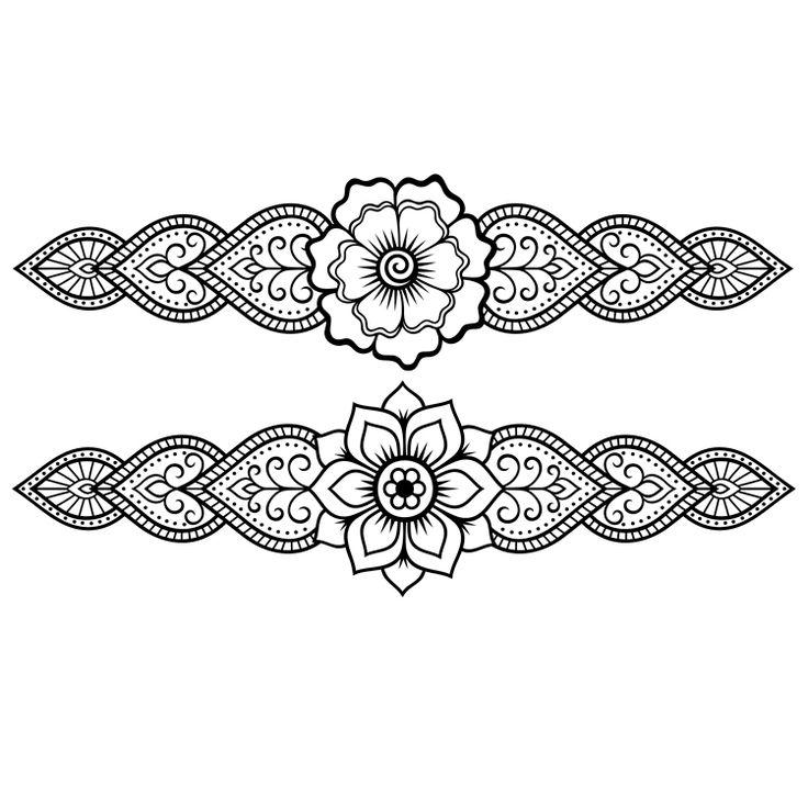 Henna Design Temporary Tattoos #645
