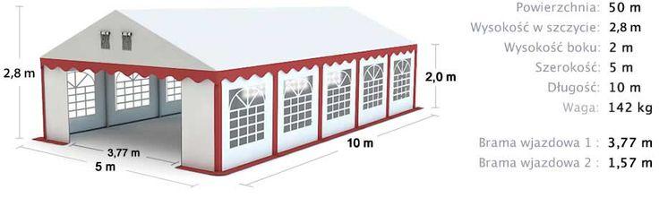 Party Tent 5x10 Commercial Tent / Namiot handlowy bankietowy imprezowy