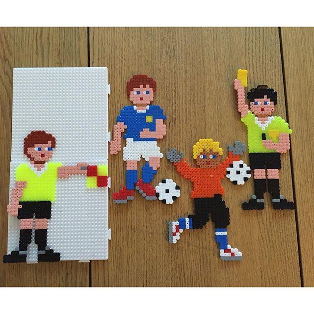 Football/soccer hama beads by sheila_mcvitty