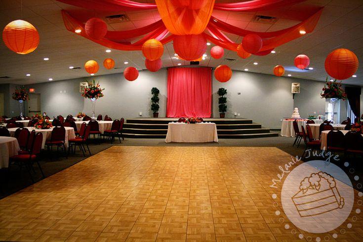 orange and pink cake | Square-Hexagon Wedding Cake – Orange and Pink Wedding
