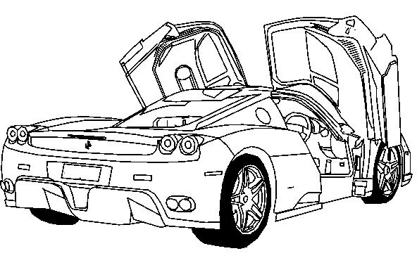 Colouring Pages Ferrari Car : Deluxe ferrari sport car coloring page