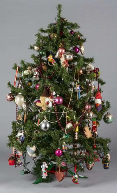 Miniature feather type Christmas tree on Christmas of Yesteryear