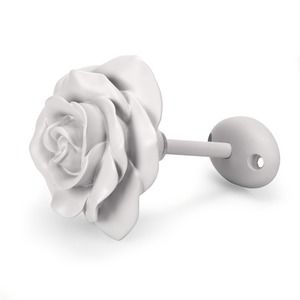Rose Flower Dove Grey Painted Holdback
