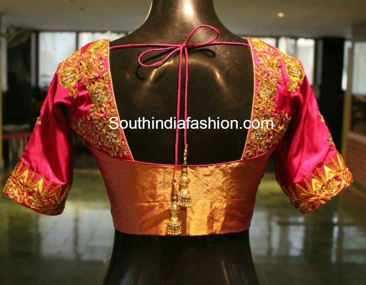Designer Blouses for Silk Sarees photo