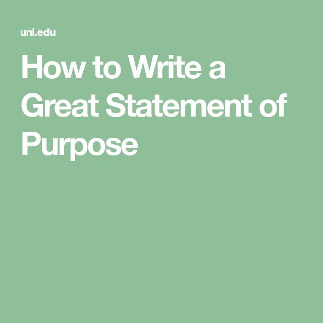 Best Statement Of Purpose Example Images On   Purpose