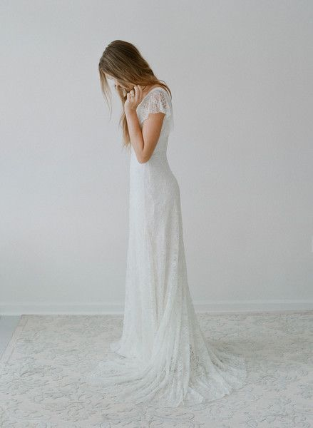 Hummingbird - Lace flutter sleeve dress - Style #TH2116 (2014 myra, bridal attire, dresses, gowns, myra callan bridal, view all) | Dresses |...