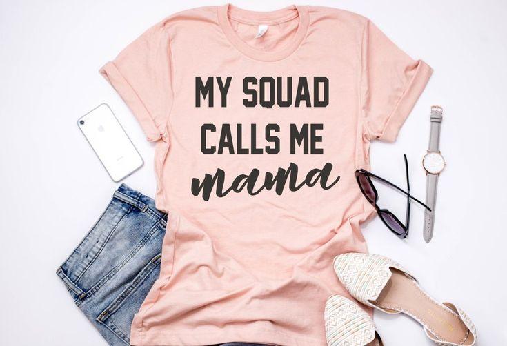 My Squad Calls Me Mama Crewneck T-Shirt 2