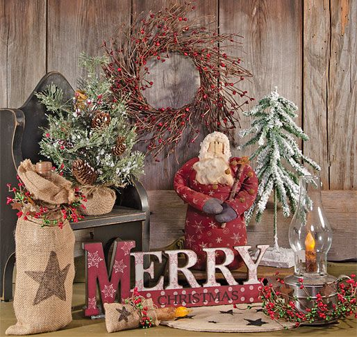Country Sampler Christmas Decorating Ideas : Country sampler homespun christmas