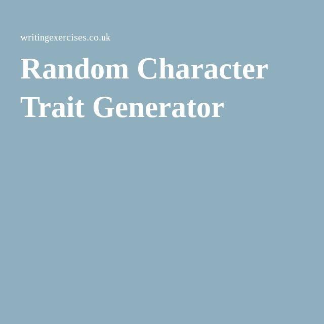 Random Character Trait Generator