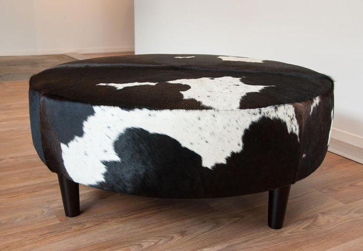 animal print round ottoman