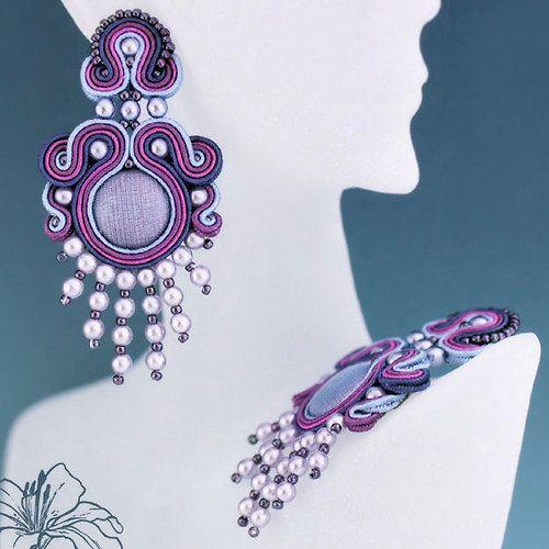 Soutache earrings Meryle | author: Zuzana Hampelova Valesova (Lillian Bann) | www.z-art-eshop.cz | http://www.facebook.com/pages/Z-ART/539656212733510