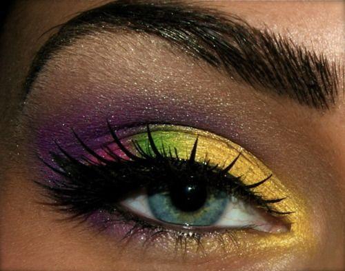 Mardi Gras eyeshadow