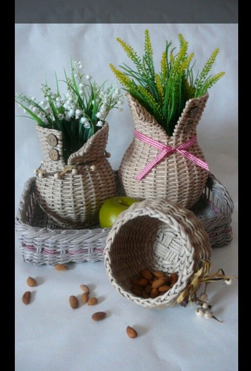 Плетение.#Basket #wicker basket #Flower basket