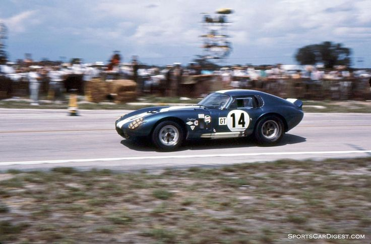 Shelby cobra daytona coupe of bob johnson and tom payne finished 7th photo