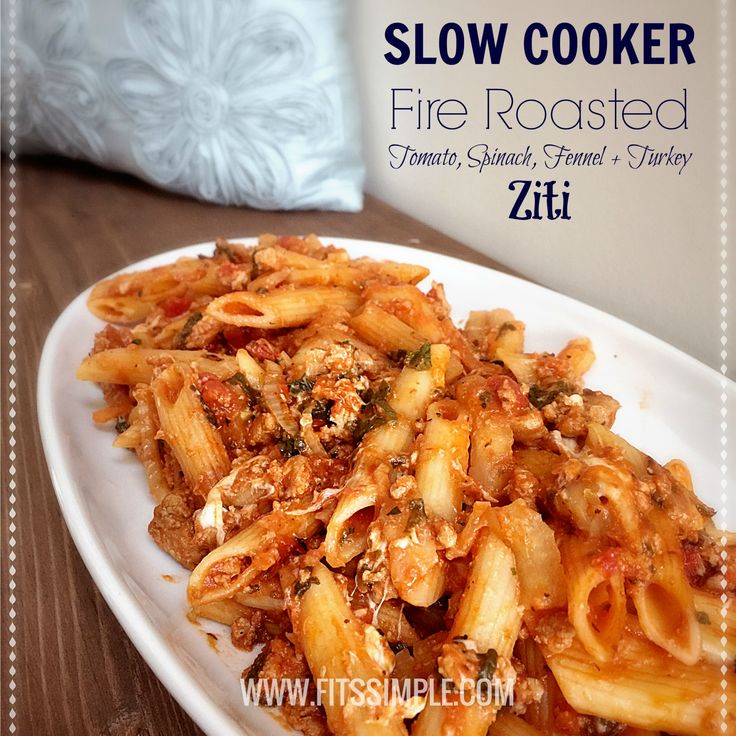 Slow Cooker Ziti - 21 Day Fix Approved Recipe INSIDE!
