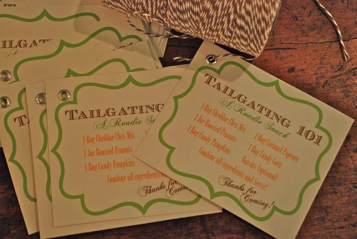 """interior design musings: Entertaining - Garden Club Meeting  Here is the favor bag to go--a """"Roadie Snack"""" for Tailgating party  complete with recipe"""