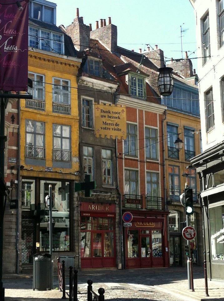Street in Lille, Nord-Pas-de-Calais Region, France.