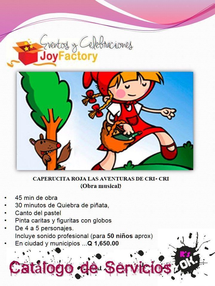 Obra Musical de Caperucita Roja para Cumpleaños y Colegios