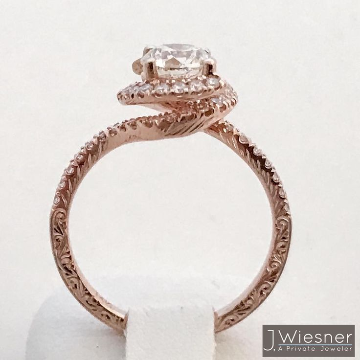 custom twisted shank engagement ring in san diego california to create your own custom - Wedding Rings San Diego