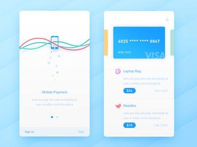 Mobile Payment app design projektowanie aplikacji ui
