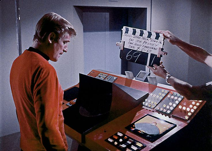 """Production still TOS: """"Wolf in the Fold"""" - Restored by StarTrekHistory.com"""
