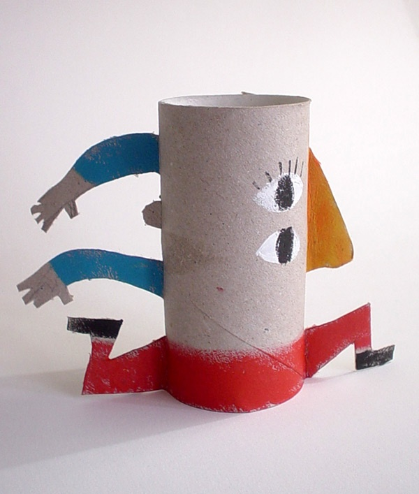 371 best images about cardboard tube crafts for kids on for Painting toilet paper rolls