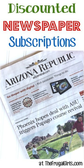 Discounted Newspaper Subscriptions!!