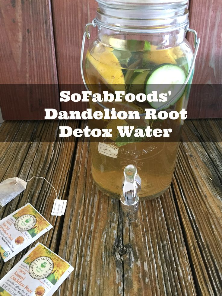 SoFabFoods' Dandelion Root Detox Water - http://www.sofabfood.com/sofabfoods-dandelion-root-detox-water/ Add beneficial ingredients to your water and regulate your digestive system with SoFabFoods' Unique Dandelion Root Detox Water! Dandelion gently stimulates the liver and gallbladder and has been used for medicinal purposes for centuries.  Dandelion Root Detox Water If you're trying to...