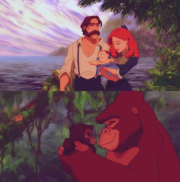 Biological families. I wonder if Tarzan found out about Kala and Kerchak's biological cub.