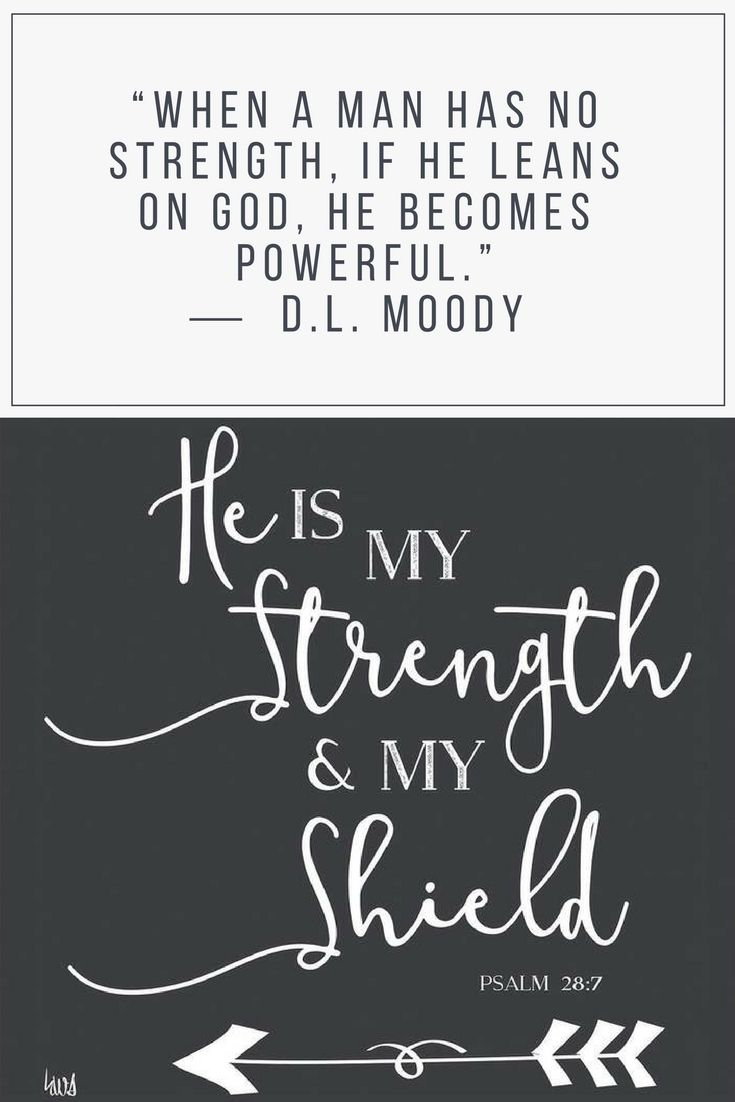 God is my strength and shield. When I'm weak, I will lean on God and feel His power within me. D.L Moody quote | God is our strength and shield | Christian wall art #godismystrength #faithwallart #interiordecorating #affiliatelink #shopmystyle #shopstyle