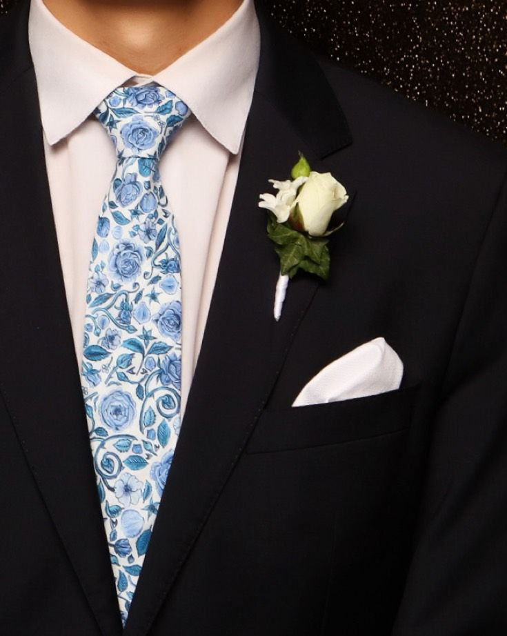 St Cuths Ball 2015. Adore the floral tie! www.whitedoor.co.nz