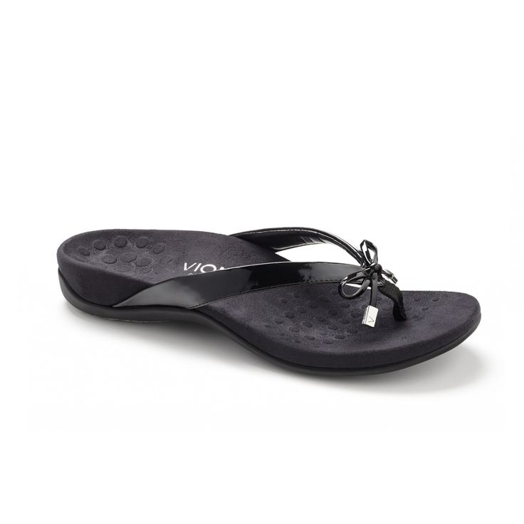 Bella Toe Post Sandal (Black)