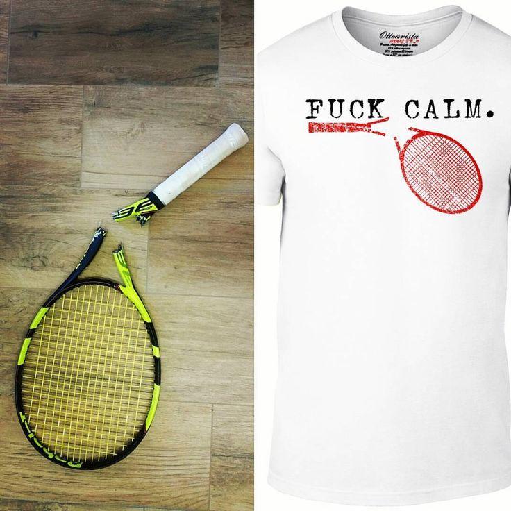 Keep calm boys!!! #shoponline ww.ottoavista.com #tennis #calm #tennisracket #babolat #ottoavistatennis #photooftheday #sport #seriea #fuckcalm #tennistshirt