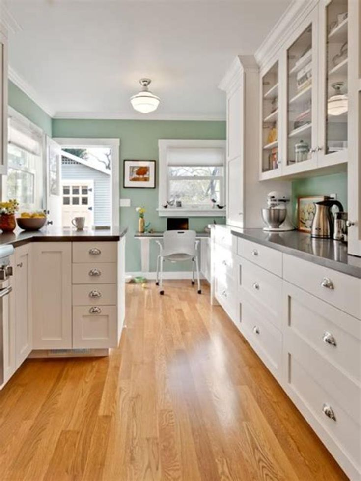 46 most popular kitchen color schemes trends 2019 green on good paint colors id=31559