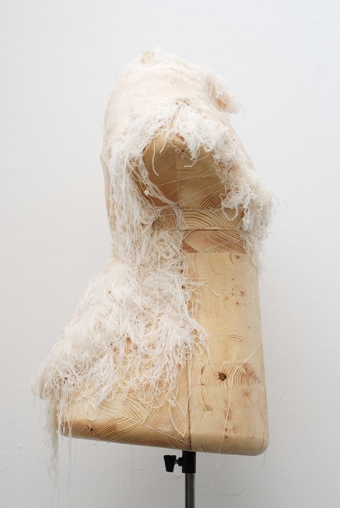 Innovative textiles design for fashion - moulded dresses made by heat-forming synthetic fibre; fabric manipulation technique // Nuue by Studio Koya