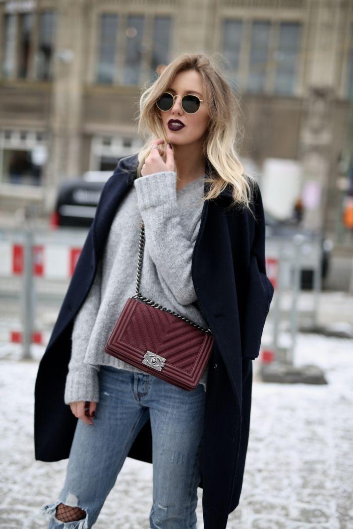 Boyfriend Jeans X Netzstrumpfhose – Sophisticated Shopp (Glamour Fashion Beauty – Winter Mode