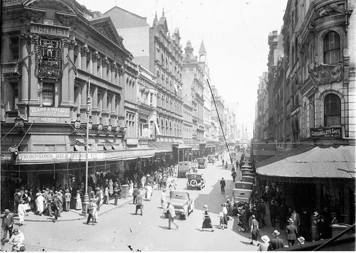 Corner of King and Pitt Sts,Sydney (year unknown).A♥W