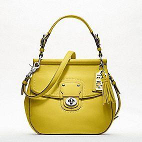Coach Willis in Citron: Fashion, Coach Pur, Coach Bags, Style, Handbags, Willis Bags, Coach Leather, Coaches, Purses