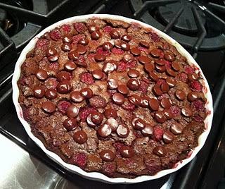 chocolate raspberry clafoutis   Baking   Pinterest