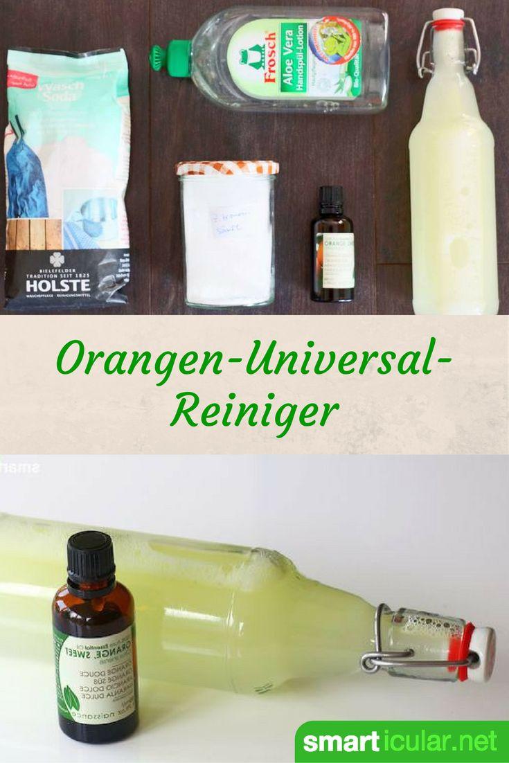 Mit dieser einfachen Rezeptur für einen Allzweckreiniger ersetzt du fast alle gängigen Putzmittel und verleihst der Wohnung einen traumhaften Duft!