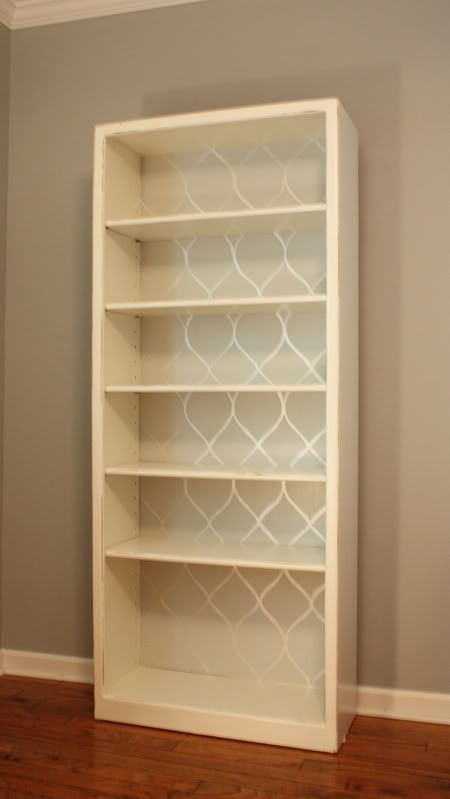 Love this idea for the back of my bookcase and cabinet