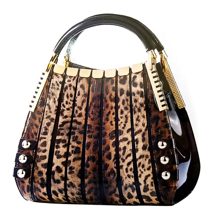Serenade Leather Mini Monica Handbag | Jaguar Print by Go for Gold on Brands Exclusive ♥•♥•♥