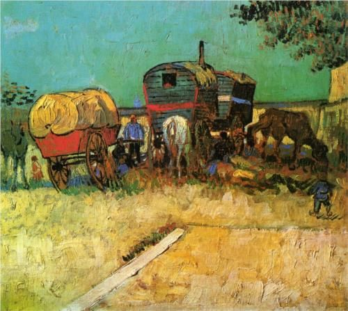 Encampment+of+Gypsies+with+Caravans+-+Vincent+van+Gogh