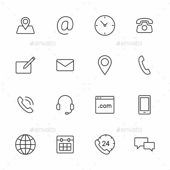 Pin By Stephaney On New Mobicel 2019 Contact Icons Vector Line Icon Calendar Icon